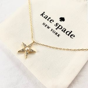 NWT Kate Spade gold tone seeing stars pave pendant